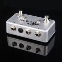 TTONE Hand Made ABY Pedal Guitar Switch Box TRUE BYPASS Amp Guitar AB Y