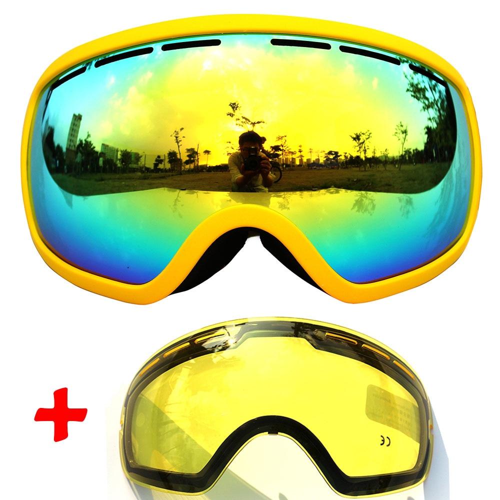 large goggles  Aliexpress.com : Buy COPOZZ Ski Goggles double lens anti fog large ...