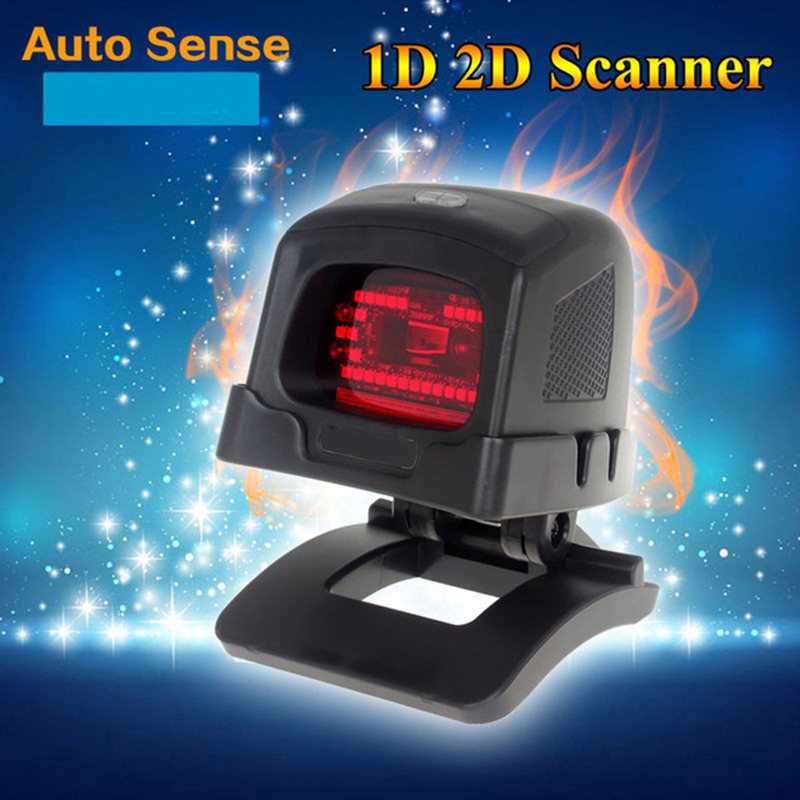 Desktop Omnidirectional 1D/2D CCD Image Laser Barcode Scanner Auto Sense Code Reader USB POS Bar Code Reader 2D QR Code Scanner new 2 4g wireless receiver usb barcode reader scanner wirescanner barcode usb ps2 rs232 laser bar code scanner reader
