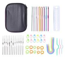 Aluminium + plastic Haak Haken 70pcs Weave Breinaalden Kit Handgemaakte Craft DIY Naaien Naalden Set Weave Craft(China)