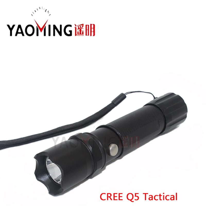 LED Flashlight Tactical CREE Q5 3-mode Powerful Cree Led Flashlights Lamp Lanterns Rechargeable Light 18650 Battery Police Led free shipping tm card reader 1990a f5 usb reader plug and play 5pcs ds1990a f5 ibtton tag