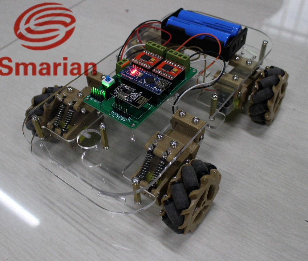 Official smarian omni wheel suspension intelligent car platform from DIY Crawler Tracked Model Robotic Base
