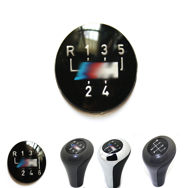 1pcs 6-Speed or 5-Speed Gear Knob Insert Shift Emblem Badges Shipping Free