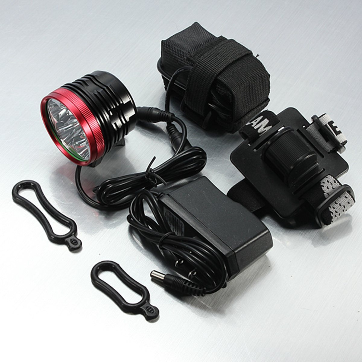 цена на Waterproof 9000LM 3 modes 6x for XM-L2 T6 led Bike Bicycle Front Light Headlight Headlamp + 18650 Battery Pack +Charger