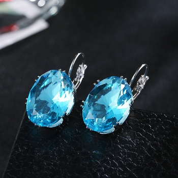 2018 Luxury Ear Stud Earrings For Women Cubic Zircon Charm Flower Stud Earrings Women Jewelry Gift 4