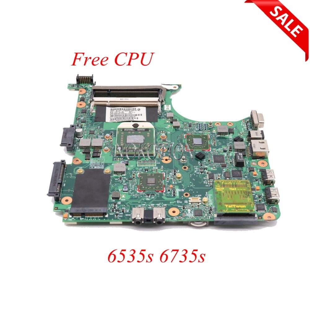 NOKOTION Laptop motherboard for HP 6535s 6735s 494106-001 Socker S1 DDR2 Main board FREE CPU FULL WORKS 511858 001 la 4111p main board for hp dv4 laptop motherboard socket s1 ddr2 with free cpu warranty 60 days