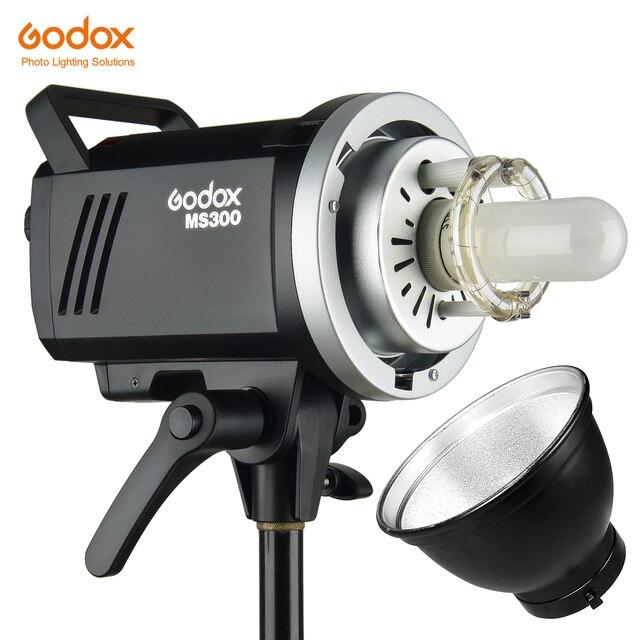 Godox MS200 200W veya MS300 300W 2.4G dahili kablosuz alıcı hafif kompakt ve dayanıklı Bowens dağı stüdyo flash