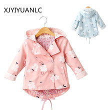 Girls Outerwear Fashion Kids Cotton Cardigan Jacket Trench Infant Coat Floral Printing Clothes Baby Girl Hoody Children Clothing baby jacket spring summer girls sun protective clothing children outwear cardigan girl leisure thin clothes floral sweatshirt