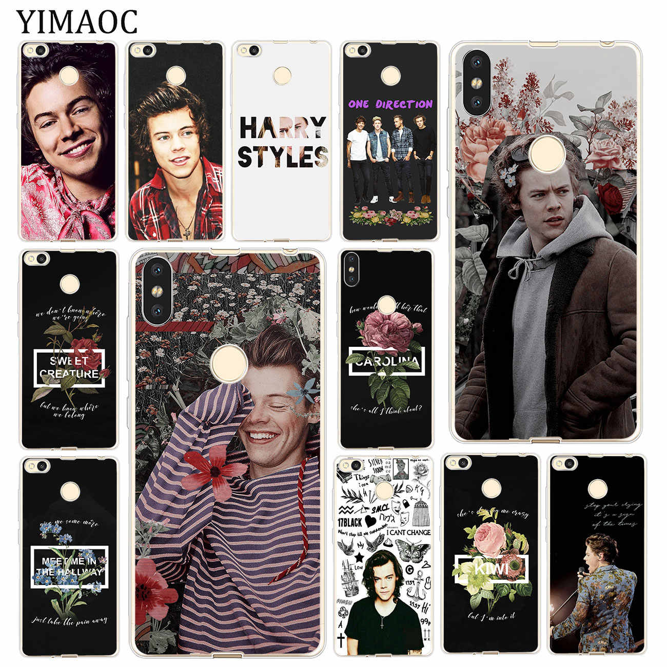 Harry Styles Dos One Direction YIMAOC 1D Soft Case para Xiao mi mi mi Vermelho 7A 6A 4A 4X S2 K20 IR Nota 7 5 6 Pro Plus 4 Capa