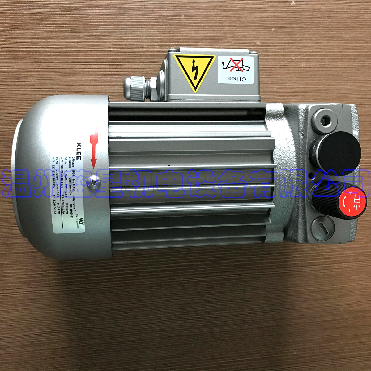 KLEE oil-free vacuum pump Kbv-404 can replace  VT4.4 Maximum flow: 4.1m3/h, max absolute vacuum 150mbar, voltage AC220V