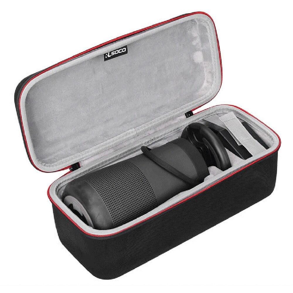 Protetor para Bose Revolve + Mais Espaço para Plug Mais Novo Viagem Case Soundlink Alto-falante Bluetooth Bolsa Capa Extra & Cable Eva