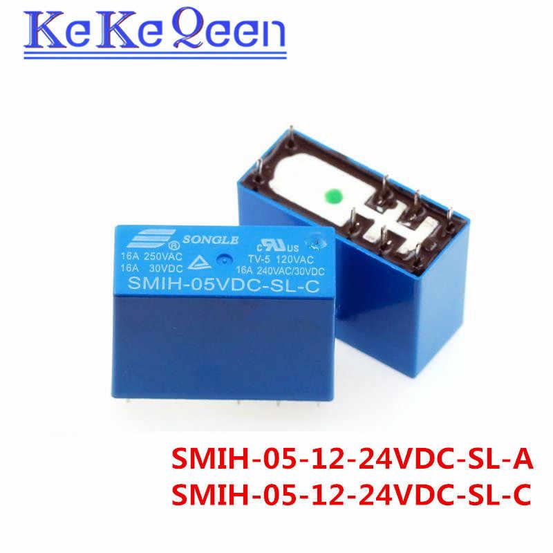 SMIH-05VDC-SL-C SMIH-12VDC-SL-C SMIH-24VDC-SL-C 05 12 24 V реле 16A 250V 8pin группа нормально разомкнутый Новый и оригинальный