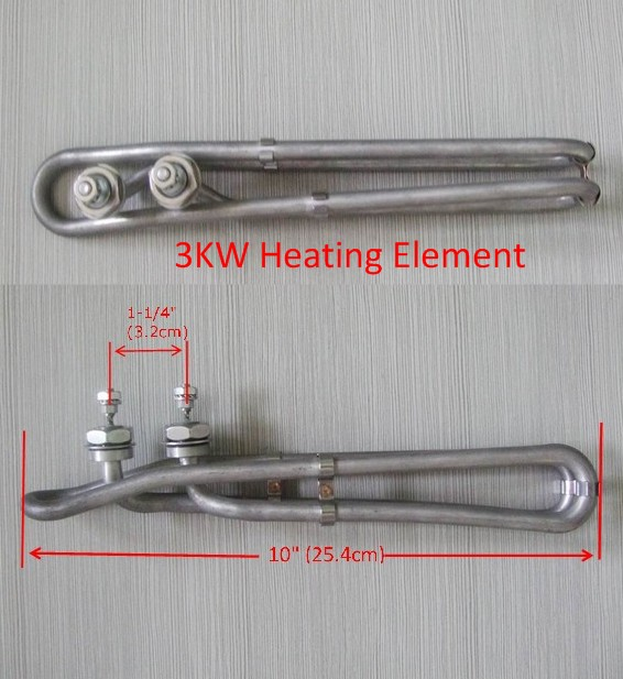 Hot Tub Spa Heater Element Flo Thru 3KW 240V 10-25.4cm replace balboa M7 heater,Gecko heating element 3000W 3 kw hot tub spa heating element heater balboa gecko hydroquip high quality usa replacement heater element