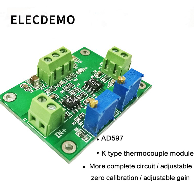 Image 1 - AD597 K type thermocouple amplifier module temperature measurement sensor analog output PLC acquisition-in Demo Board Accessories from Computer & Office