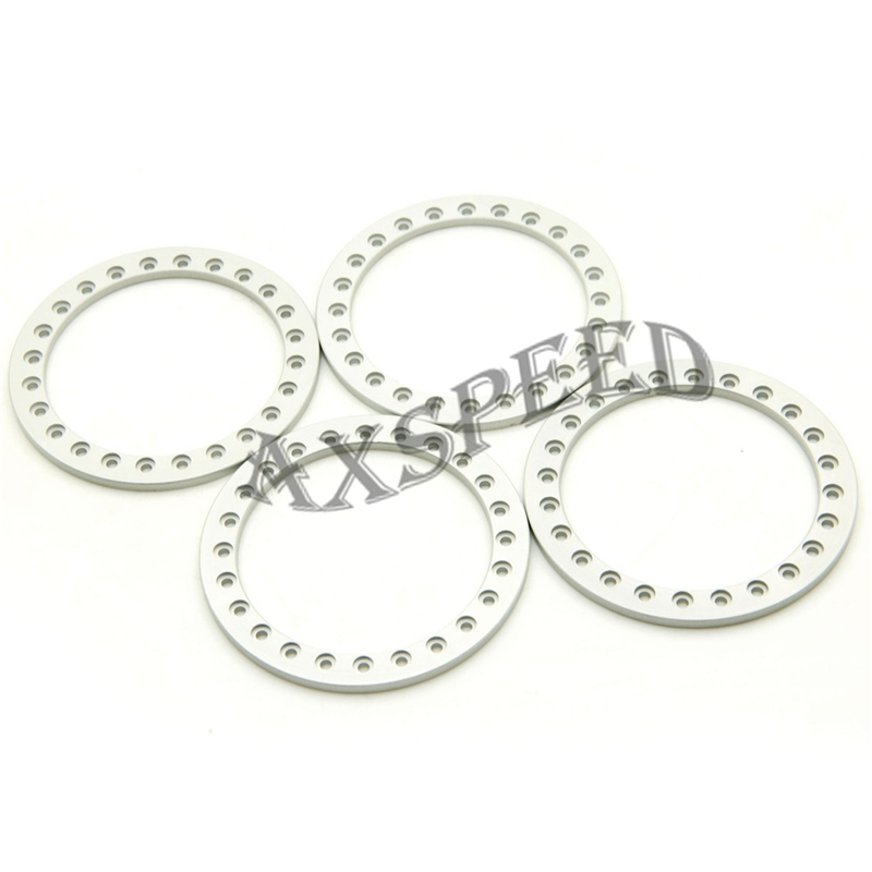 Parts & Accessories Toys & Hobbies Painstaking Axspeed Silver Aluminum Wheel Rings Alloy Wheel Beadlock Rings For 2.2 Inch Wheel Rim 1/10 Rc Crawler Car D90 Scx10 Fragrant Aroma