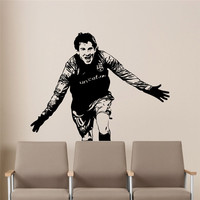 Lionel Messi Wall Decal Barcelona Team Kids Nursery Home Decor Boys Room Handsome Football Player Sports