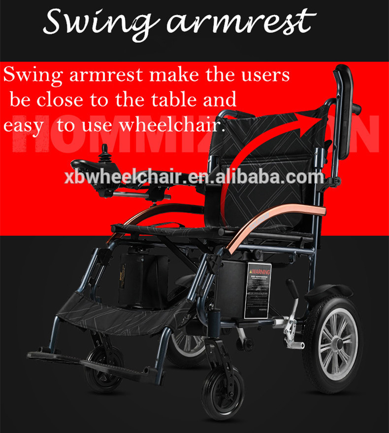 Factory price swing armrest lithium battery power electric wheelchair chinese suppliers