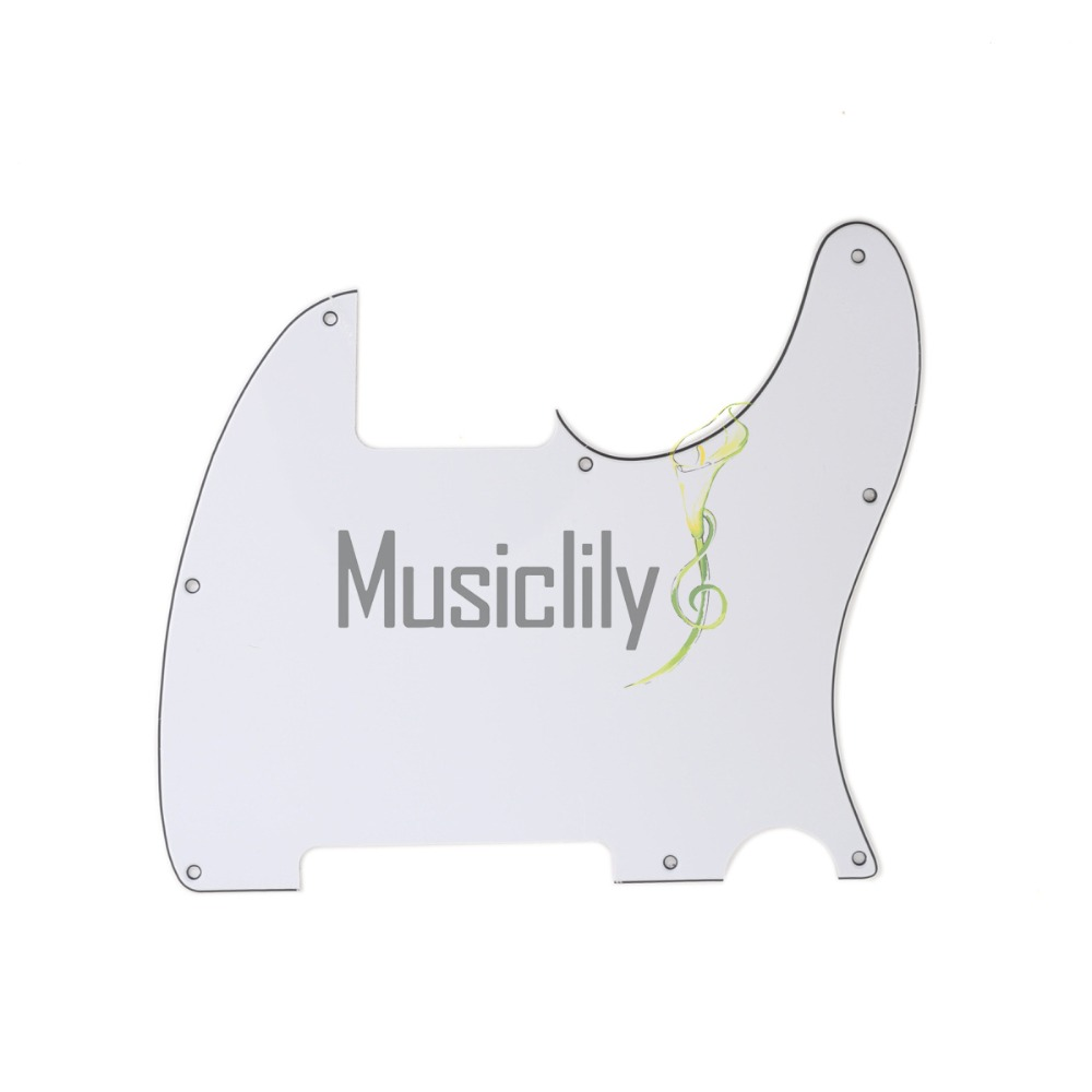 Musiclily Multiple Color 3Ply 8 Holes Guitar Pickguard Scratch Plate Pick Guards for Fender Esquire Tele Guitar