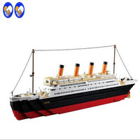 1021PCS Sluban B0577 Building Blocks Toy Cruise Ship RMS Titanic Ship Boat 3D Model Educational Gift