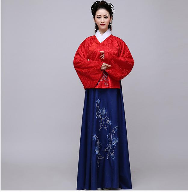 Nuevo Diseño Chino Tradicional de Las Mujeres Vestido Chino Ropa Vestido de Hadas Hanfu Dinastía Tang Hanfu Antiguo Traje Chino