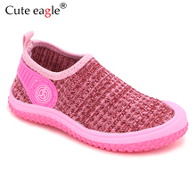 Cute eagle 2019 Brand Autumn Knitted camouflage Shoes Toddler Girls Soft Shoes Kids Boys  Non-slip Children Casual  Beach Shoes цена 2017