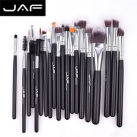 JAF 20 Pcs Makeup Brush Set Professional Face Eye Shadow Eyeliner Foundation Blush Lip Brushes Powder
