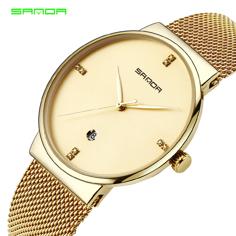 New 2018 Simple Quartz Watch Men Watches Top Brand Luxury Famous Male Clock Wristwatch For Man Hodinky Relogio Masculino SANDA new stainless steel wristwatch quartz watch men top brand luxury famous wrist watch male clock for men hodinky relogio masculino