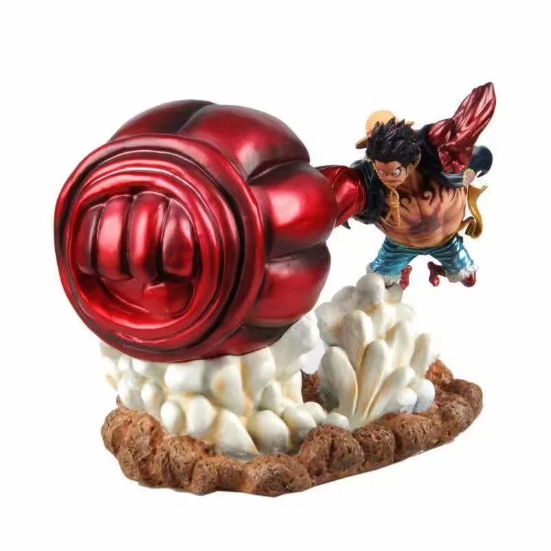 3 Sign Anime One Piece GK the Bound Man with Big Hand Luffy Statue Figure Model Toys