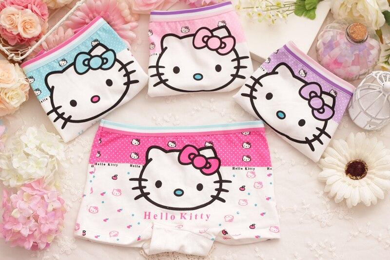4pcs Lot Children Girls Hello Kitty Underwear Kids Fashion