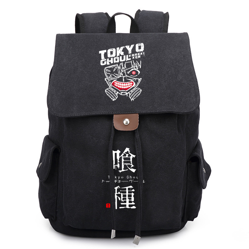 Tokyo Ghoul Cosplay Backpack Anime Kaneki KenNylon School Bag Unisex Cartoon Laptop Shoulder Bag Travel Bag new game of thrones anime ice and fire backpack shoulder school bag package cosplay 45x32x13cm