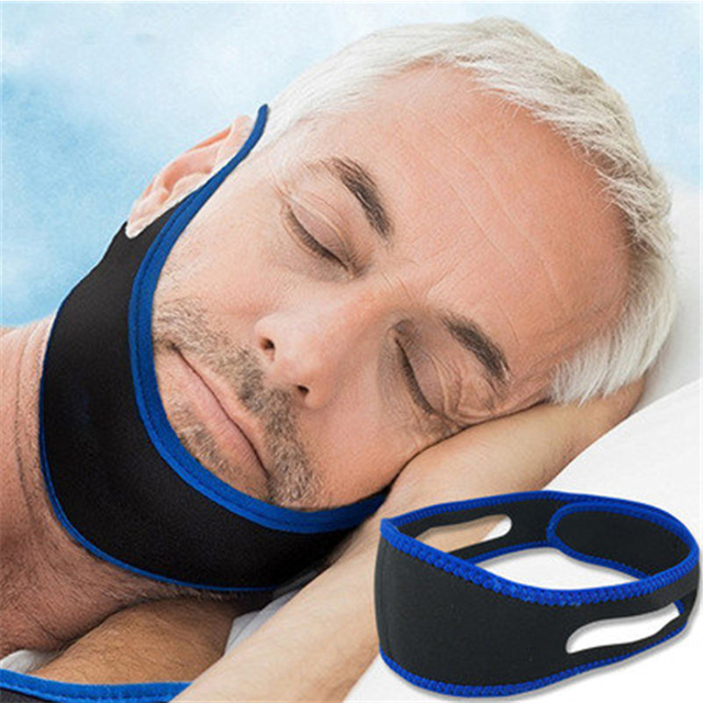 CPAP Anti Snoring snore chin strap Snoring Remedy Relieve Sleep Apnea Care Health Tools Stretchable Strap Stop Snoring Aid Belt