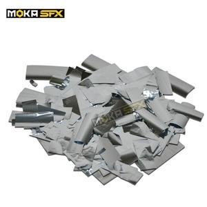 Image 1 - 3 кг/лот ткань конфетти бумага Прямоугольник Серебро Конфетти для CO2 Jet конфетти машина