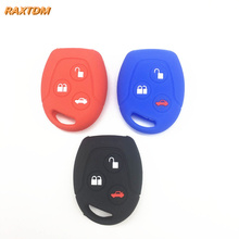Silicone car key fob case cover sticker set protector accessories fit for ford Mondeo Fiesta Focus C-Max KA GALAXY remote holder