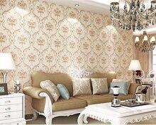 beibehang European Damascus gilding nonwoven living room bedroom TV background carved papel de parede 3d wallpaper papier peint