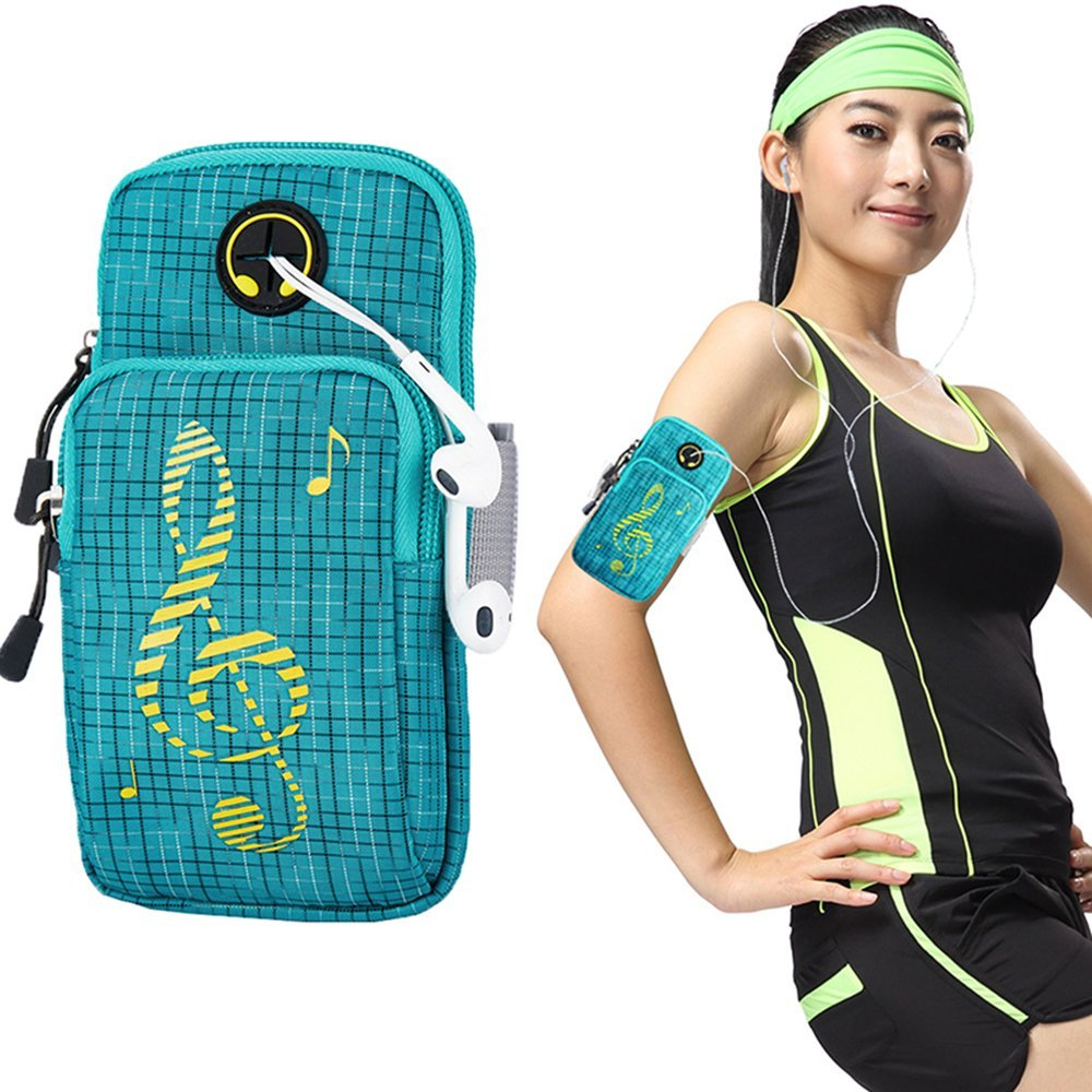 Universal outdoor Gym Sports Armbands Running armbag Phone holder case wirst bag for iPhone 6/6s/7plus/8/X s8/s9 plus
