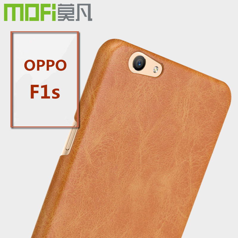 reputable site a5c11 9c477 US $9.99 |OPPO F1s case MOFi original OPPO F1 s silicon back cover leather  for a59 a59m cases cover hard coque housing phone fundas 5.5 on ...