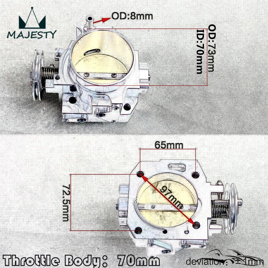 For Honda k-series//K20//Civic//EP3//Type R//Integra DC5 70mm 2.75/'/' Throttle Body SL