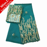 High Quality African George Lace Fabric 2017 New Arrival African Guipure Lace Fabrics 5yds Extra 2