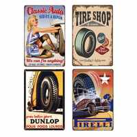 Tire Poster Old Painting Metal Sign Decoration Plaques Vintage Signs Car Garage Retro Decoration Home Decor 20x30cm Dropshipping