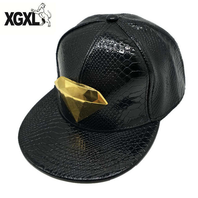 3c58601ea3a ... czech good quality artificial crocodile diamond skin snapbacks 3d metal  decoration pu leather flat brim baseball