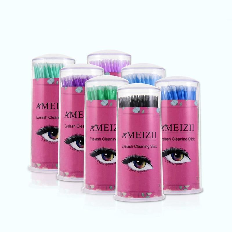 Brushes Individual Applicators Mascara Removal Swabs Tools 100pcs / Bag Durable Micro Disposable Eyelash Extension Makeup