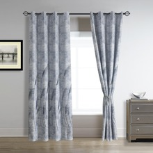 palm leaves trees blackout window curtains drapes grommet panles wide 52 inches by 96 inches long navy royal blue