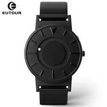 hot deal buy eutour men watches creative steel ball show magnetic watch canvas fashion design male clock novel mens watches wristwatches 2017