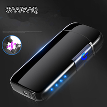 Inductive Double Arc USB Lighter Rechargeable Electronic LED Power Display Cigarette Plasma Palse Pulse Thunder