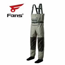 8 Fans Outdoor Fly Fishing Chest Waders Breathable Waterproof Fishing Stocking Foot Waders