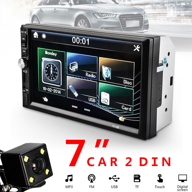 Vehemo 2DIN 7-inch Car MP5 HD Player with Card Reader Radio Car Stereo Audio MP5 Player Fast Charge without camera 2018 Bluetoot 7023d 2din 7 inch bluetooth hd stereo audio mp5 card reader fast charge with rear view camera car radio player