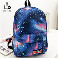 LINLANYA 2016 hot sell Preppy Style Stars Universe Space printing backpack Canvas chool Book Backpacks British flag Stars bag