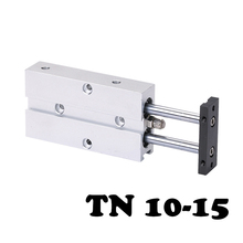 TN 10*15 Two-axis double bar cylinder cylinder TN Series 10mm Bore 15mm Stroke Aluminum Alloy Pneumatic Air Cylinder bore size 10mm x 400mm stroke cy3b series pneumatic stardard rodless cylinder