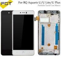 For BQ Aquaris U plus/U Lite LCD Display+Touch Screen Assembly for bq u plus/u lite lcd digitizer with Frame Panel Tactil