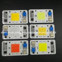 50 Вт 110 В 220 В COB высокомощный светодиодный чип встроенный драйвер Белый светодиодный, полный спектр светодиодный Королевский синий теплый белый